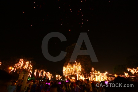 Southeast asia lantern loi krathong bangkok thailand.