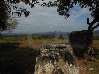 Southeast asia lichen urn laos rock.