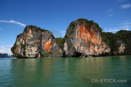 Southeast asia limestone island tropical thailand.