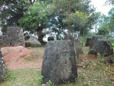 Southeast asia megalithic stone tree laos.