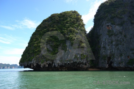 Southeast asia phang nga bay limestone tropical water.