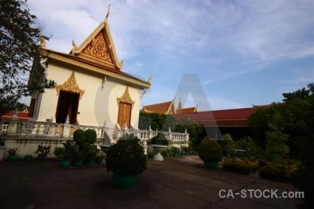 Southeast asia phnom penh palace cloud sky.