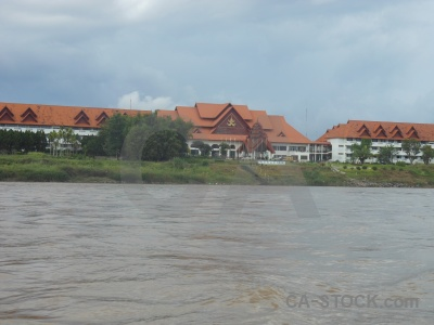 Southeast asia river thailand water golden triangle.
