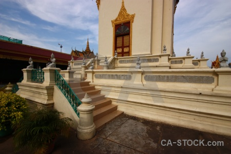 Southeast asia royal palace cloud step cambodia.