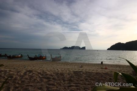 Southeast asia sand phi island thailand beach.