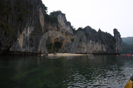 Southeast asia sand sea limestone vietnam.