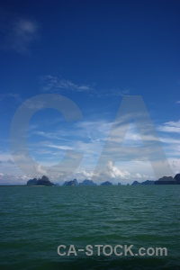 Southeast asia sea sky island cloud.