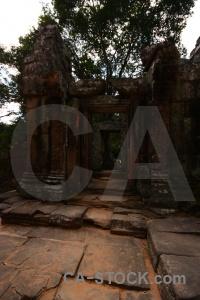 Southeast asia siem reap block buddhist stone.
