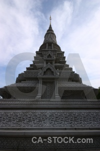 Southeast asia sky phnom penh cloud stupa.