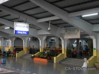 Southeast asia station thailand nong khai platform.