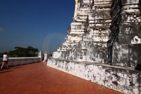 Southeast asia stupa wat phu khao thong building chedi phukhao.