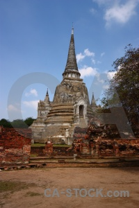 Southeast asia temple ayutthaya buddhist unesco.