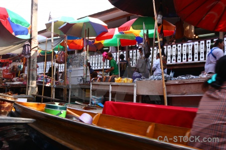Southeast asia thailand canal boat vehicle.
