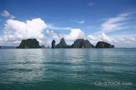 Southeast asia thailand island limestone sea.