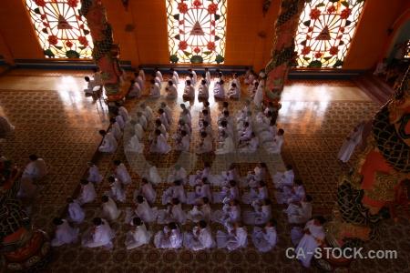 Southeast asia tile pray tay ninh holy see religion.