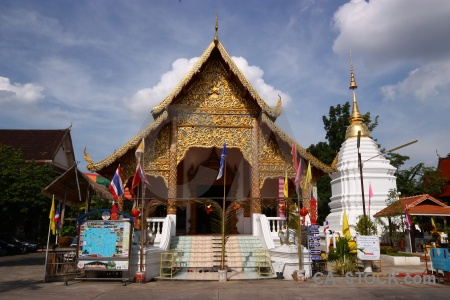 Southeast asia tree wat chai prakiat phra kiat stupa.