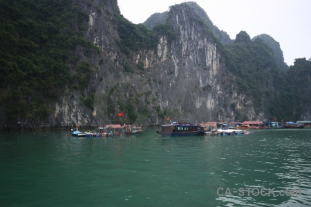 Southeast asia vietnam floating limestone vehicle.