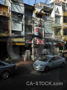 Southeast asia vietnam hcmc saigon road.