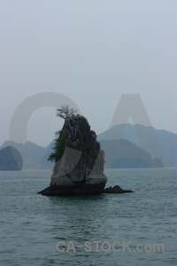 Southeast asia vietnam sea ha long bay limestone.