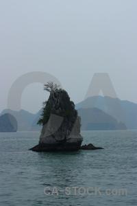 Southeast asia vietnam sea ha long bay limestone.