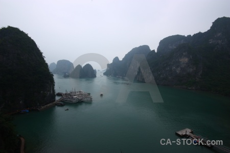 Southeast asia vinh ha long bay sea island.