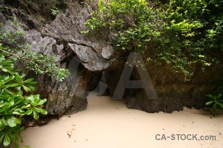 Southeast asia vinh ha long island beach rock.