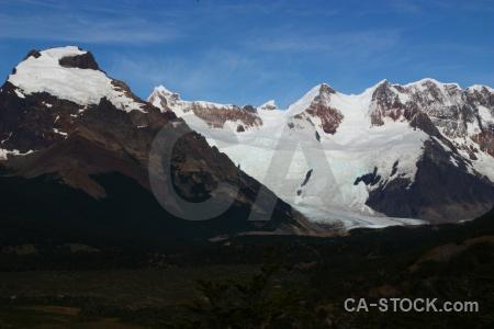 Southern patagonian ice field el chalten glacier trek landscape.