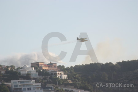 Spain airplane javea montgo fire firefighting.