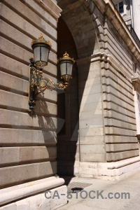 Spain archway lamp madrid europe.