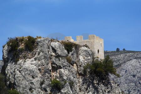 Spain blue europe rock guadalest.
