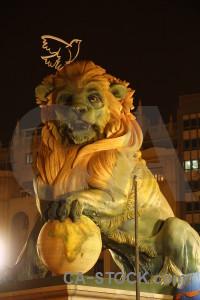 Spain brown fallas statue animal.