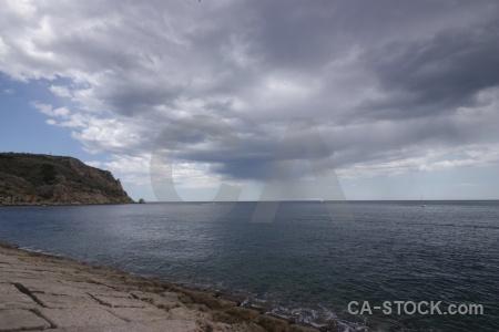 Spain cloud europe sea javea.