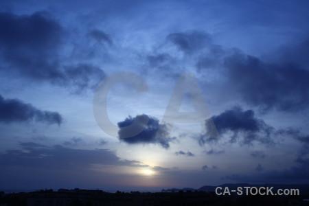 Spain cloud sunrise sunset javea.