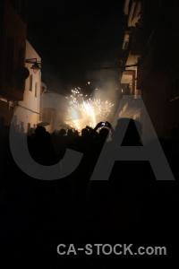 Spain correfocs javea fiesta firework.