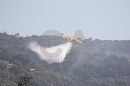 Spain europe airplane montgo fire firefighting.