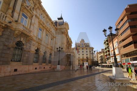 Spain europe brown square cartagena.