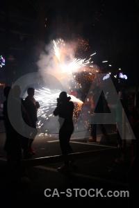 Spain europe fiesta black firework.