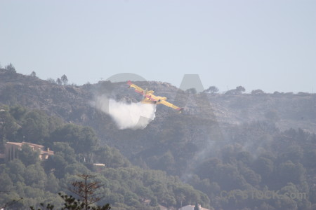 Spain europe firefighting airplane javea.
