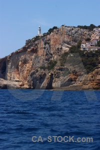 Spain europe javea blue rock.