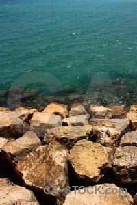 Spain europe javea rock sea.