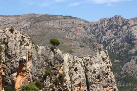 Spain europe rock guadalest.