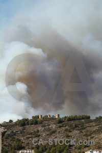 Spain europe smoke montgo fire javea.