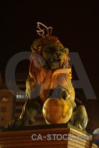 Spain europe valencia yellow statue.