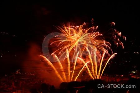 Spain firework orange night red.