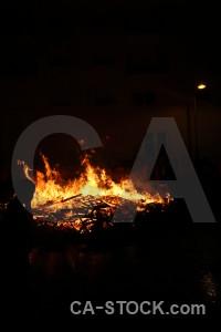 Spain flame fire black javea.