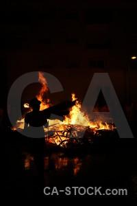Spain flame fire javea europe.