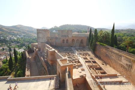 Spain historic labyrinth granada palace.