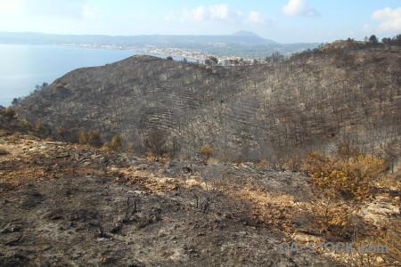 Spain javea ash europe burnt.
