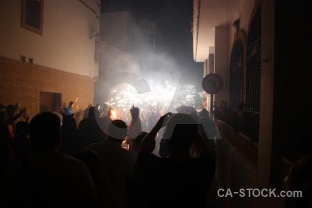 Spain javea black correfocs firework.
