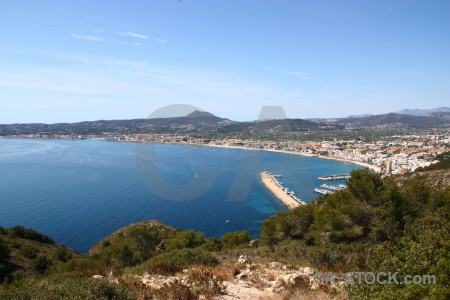Spain javea blue europe.